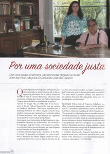 Por uma sociedade justa, na Edição Melhores do Ano da Revista Empreendedores, do Jornal O Vale, de 2016.